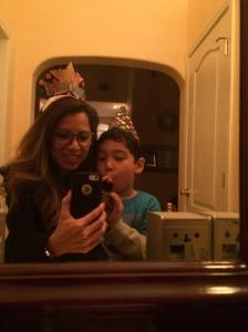 Selfie with my nephew.